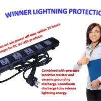 Large picture Surge Protection Power Stirp with USB Charger