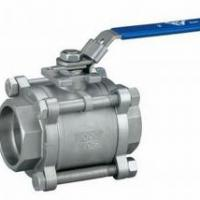 Large picture SCREWED STAINLESS STEEL 3 PIECE BALL VALVE