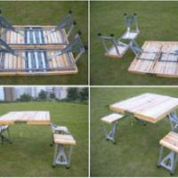 Large picture camping table and chair