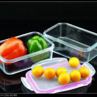 Large picture glass storage container for food
