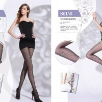 Large picture jacquard stockings