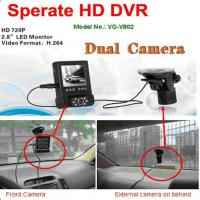 Large picture HD 720P Portable Car DVR With Dual Camera