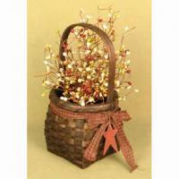 Large picture floral basket