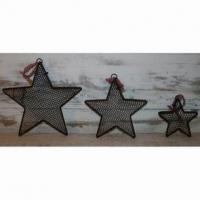 Large picture wire star decoration