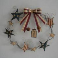 Large picture metal star wreath
