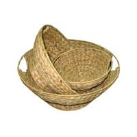 Water Hyacinth Handle Basket