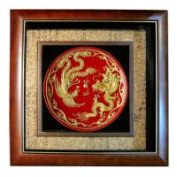 Large picture Gold Lacquer Thread Sculpture