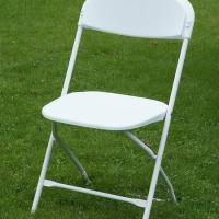 Large picture White Plastic Folding Chair
