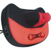 Large picture curve red and black massage pillow