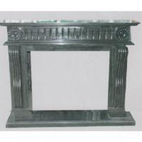 Large picture Black marble fireplace