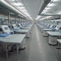 Large picture ring spinning production line in textile machinery
