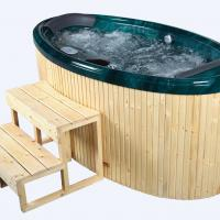 Large picture massage bathtub for 2 persons