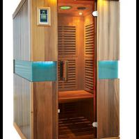 Large picture home sauna for 2 person