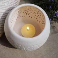 Large picture hollow out ceramic candle holder