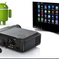 Large picture Android 4.04 projector with wifi