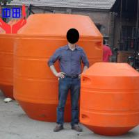 Large picture MDPE pipe float for dredging pipeline, foam filled