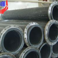 Large picture black hdpe pipe with loose flanges for dredging