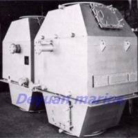 Large picture exhaust-gas economizer for marine boiler