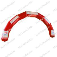 Large picture red inflatable ad arch