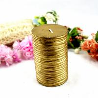 Large picture Christmas Golden Pillar Candle (RC-436)