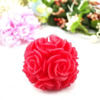 Large picture Wedding Red Rose Ball Craft Candle (RC-448)