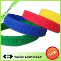 Large picture Fashion debossed silicone bracelet