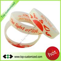 Large picture Custom Screen print silicone bracelet