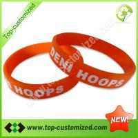 Large picture fashion silicone bracelet and bangle
