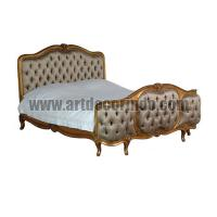 Versailles gold gilt french Upholstered 5ft Bed