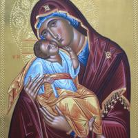 Large picture Religious icon of Virgin Glykofilousa with Child