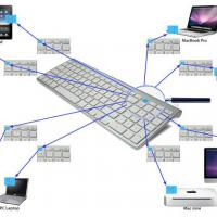 Large picture Bluetooth Keyboard Multi-host switchable