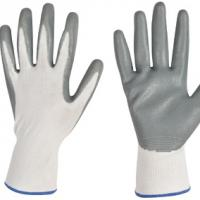 Large picture 13 gauge polyester gloves with nitrile coated