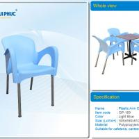 Large picture Plastic arm chair, suitable for cafeteria, garden