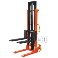 Large picture manual lift stacker