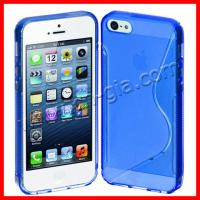 S-Line Back Case Flexible TPU Cover for iPhone 5