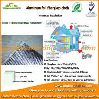 Alu  foil fiberglass cloth for isolation material