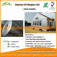 Wall insulation Alu foil  fiberglass cloth