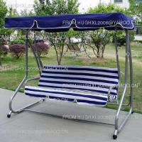 Large picture metal swing chair with canopy