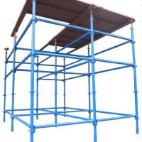 Large picture African type scaffolding system for concrete slab