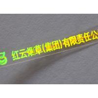 Large picture holographic cigarette self-adhesive tear tape