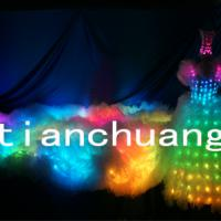 Large picture Longest LED Light Wedding Dress In China