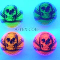 Large picture Novelty blacklight golf ball-skull design
