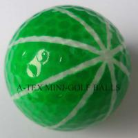 Large picture golf blacklight ball