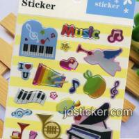 Large picture Lovely Instrument Epoxy Sticker