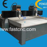 Double heads stone cnc router