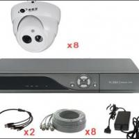 Large picture 8-chCCTV kit with 8 IR dome cameras for home
