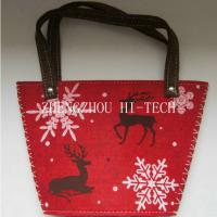 Large picture Christmas Holiday Gift Felt Printing Bag