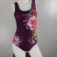 Large picture One Piece Flower Pattern Sports Swimwear