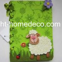 Large picture Easter holiday gift felt notebook cover
