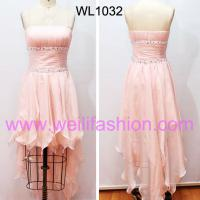 Large picture Short Pleated Beading Chiffon Prom Dresses